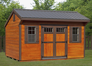 Cottage Style Shed with Metal Roof