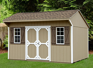 Cottage Style Shed with Shingle Roof