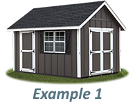 Shed Door and Window Layout Example 1
