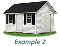 Shed Door and Window Layout Example 2