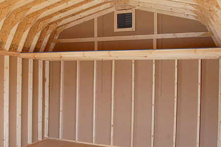 Increase your usable space inside your storage shed with a loft