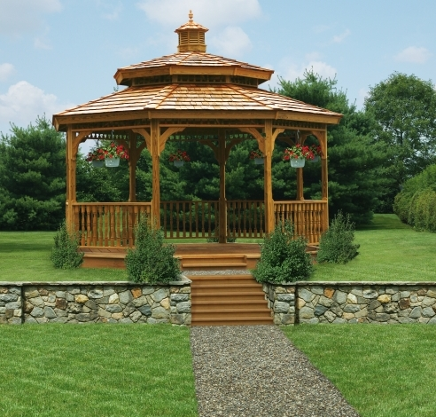 features and benefits of a wood gazebo from Pine Creek Structures