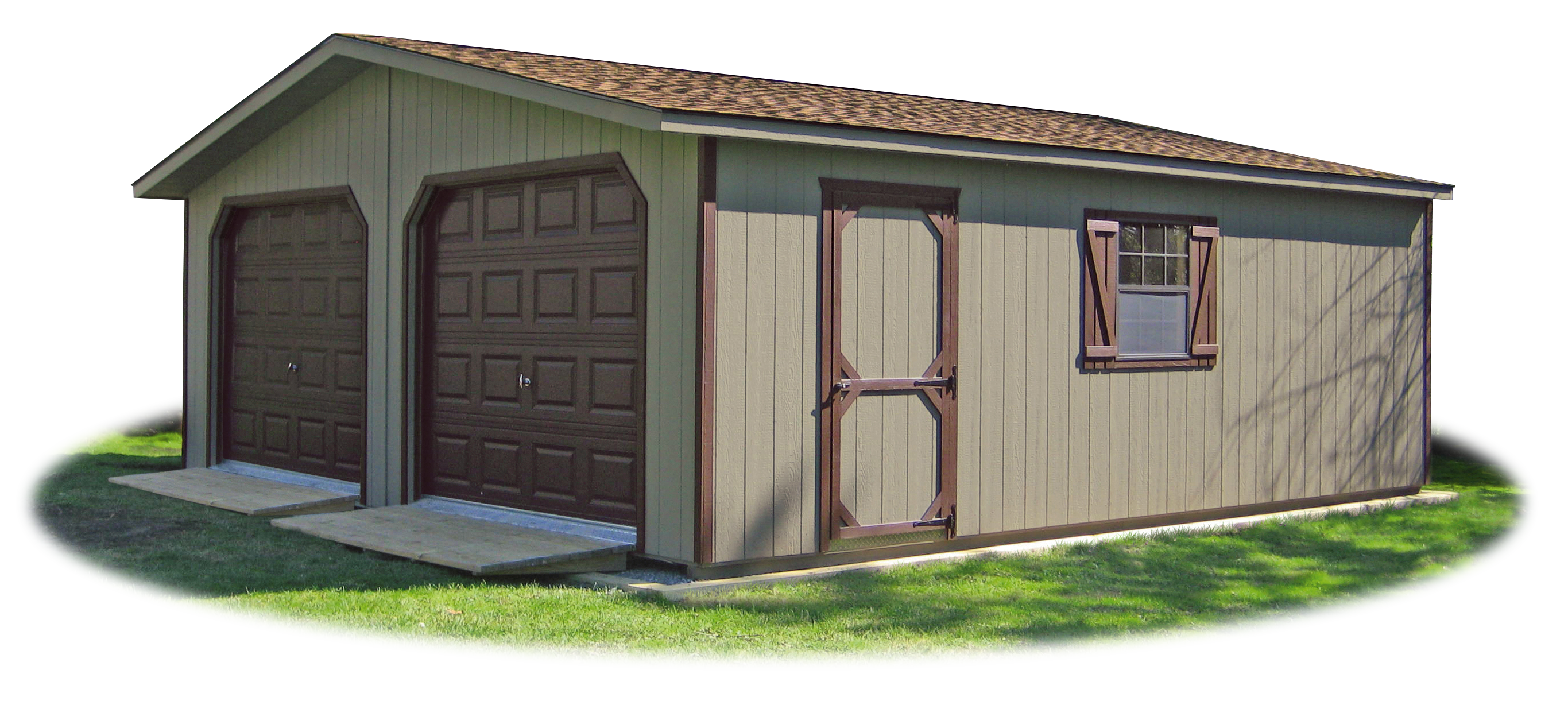 LP Smart Side Sided 2 Car Modular Garage With Ramps