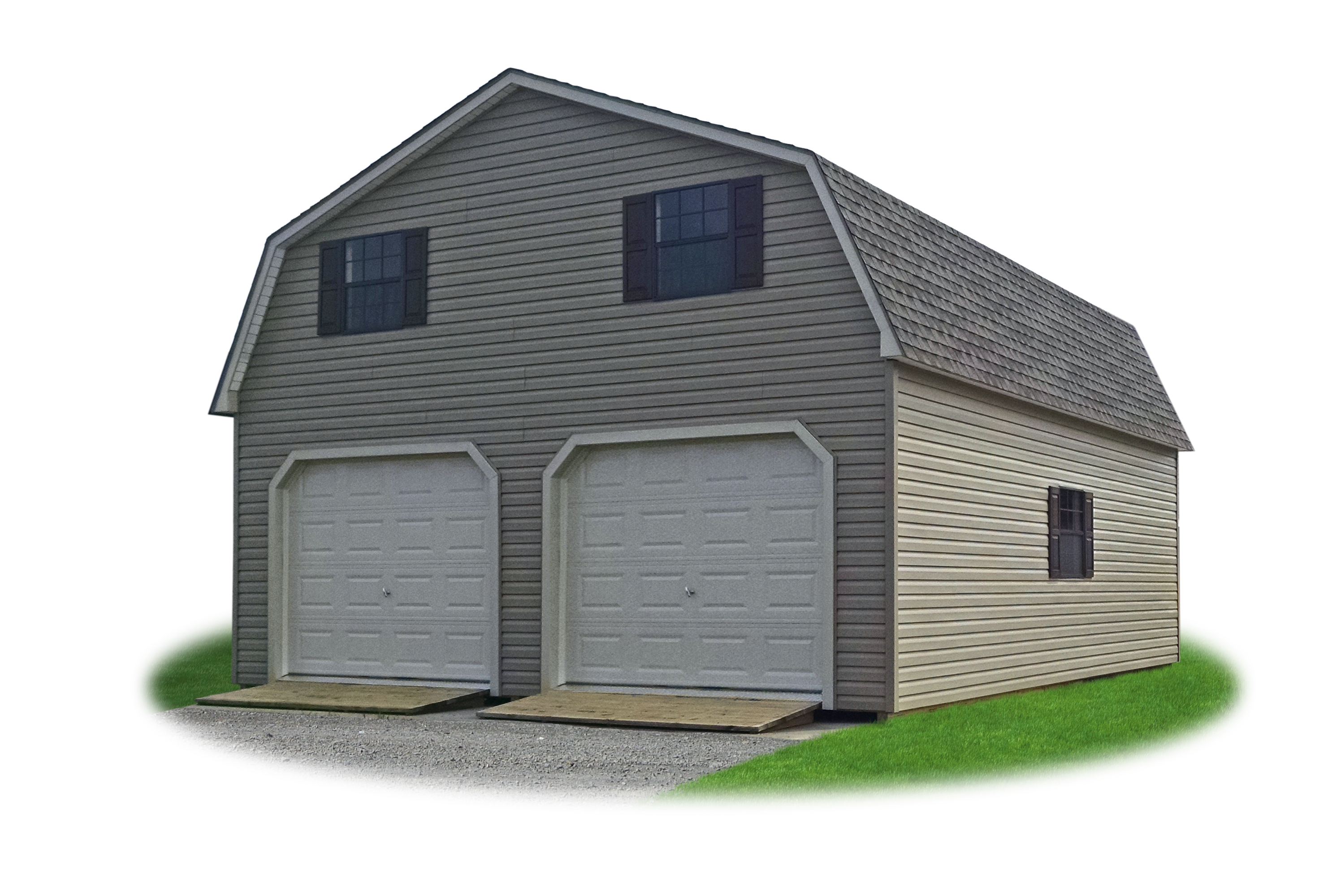 2 car modular garages pine creek structures legacy two story two car garages