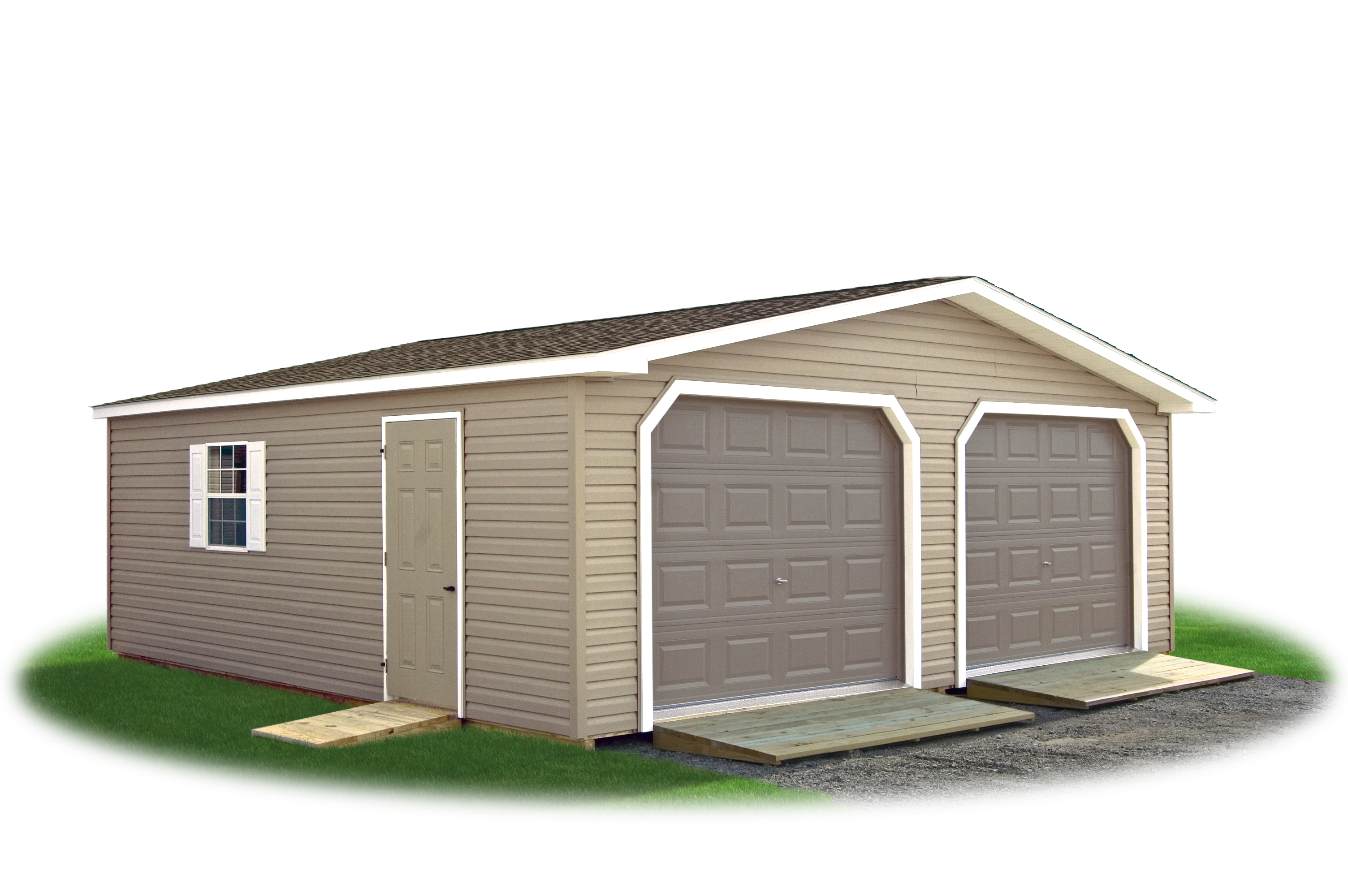 2 car modular garages pine creek structures for Two car garage doors