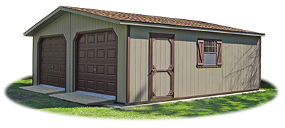 LP Smart Side Sided 2-Car Modular Garage with ramps