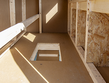 4x6 Mini Chicken Condo Interior from Pine Creek Structures