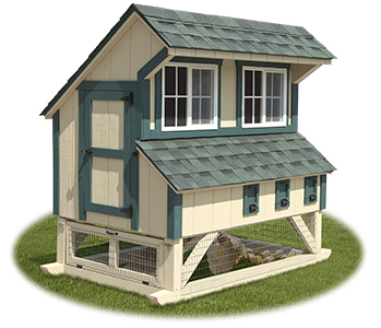4x6 Mini Chicken Condo from Pine Creek Structures