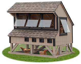 6x8 Large Chicken Condo from Pine Creek Structures