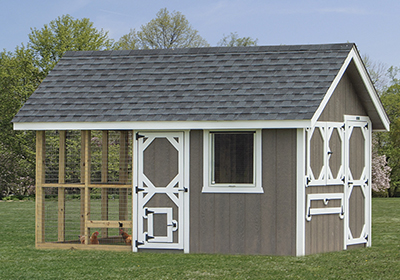 New King Coop chicken coop model from a Pine Creek Structures
