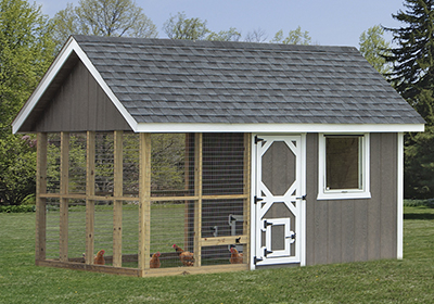 8x12 Chicken Coop from Pine Creek Structures