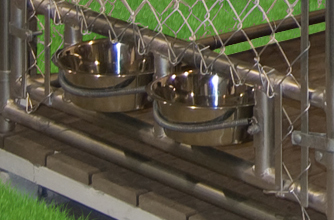 Pine Creek Structures Kennel Option: Feed and Water Bowl Bracket
