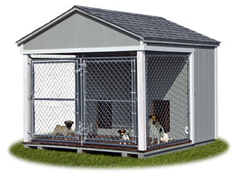 8x8 Medium Double Dog Kennel from Pine Creek Structures