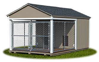 8x14 Large Double Dog Kennel from Pine Creek Structures