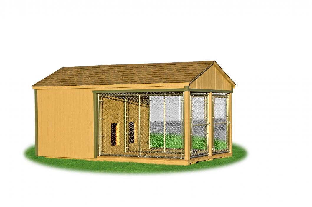 Dog kennels pine creek structures for Building a dog kennel business