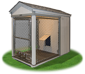 4x4 Single Dog Kennel from Pine Creek Structures