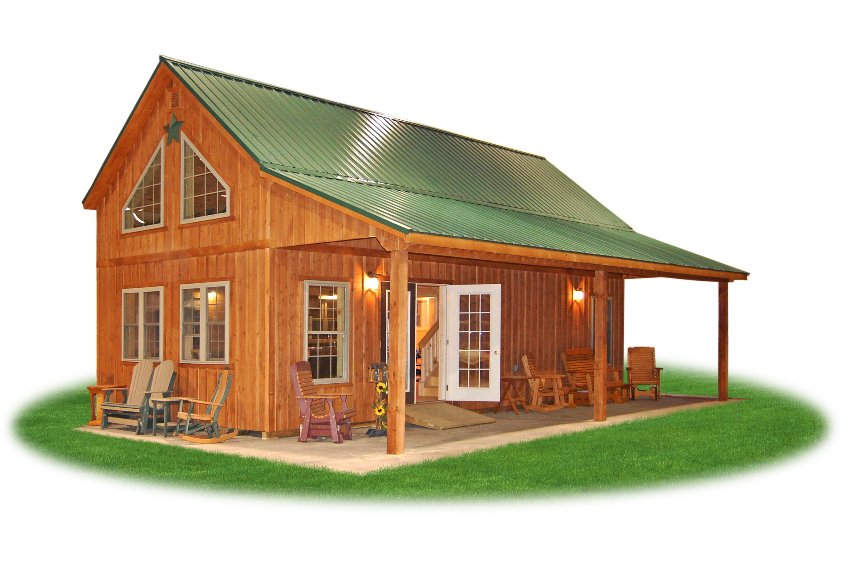 16 x 24 shed with loft joy studio design gallery best for Barn cabin plans
