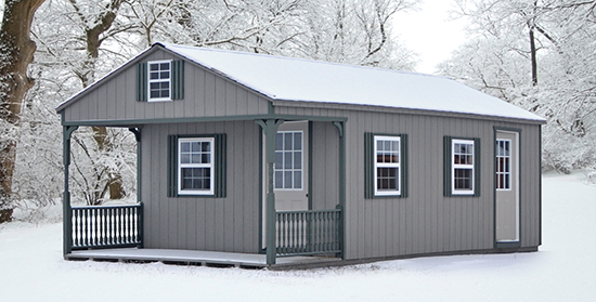Custom White Deer Cabin built by Pine Creek Structures
