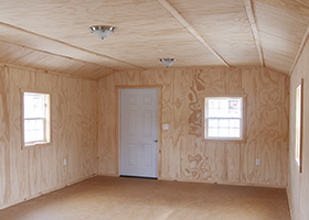 Custom White Deer Cabin with Interior Finish built by Pine Creek Structures