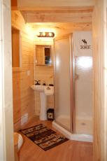 custom cabin interior bathroom