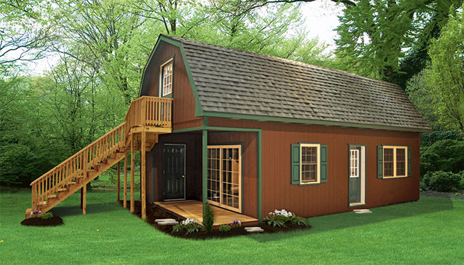 Getaway cabins pine creek structures for 2 story shed house