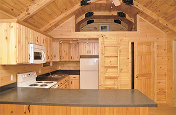 Pine Creek Cabin Kitchen