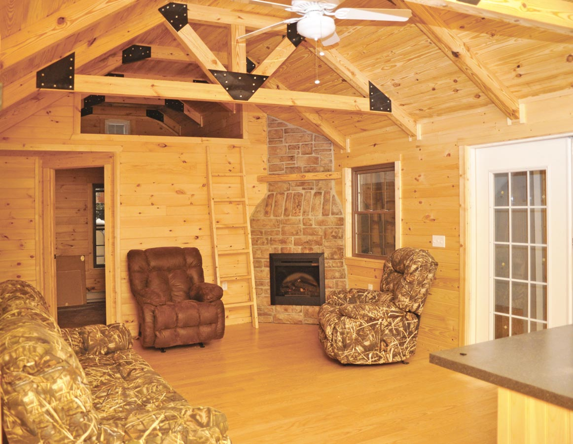 Pine Creek Cabin Living Area ...