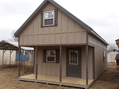 16x36 two-story recreational cabin with porch, second floor, and unfinished interior in mill hall, PA