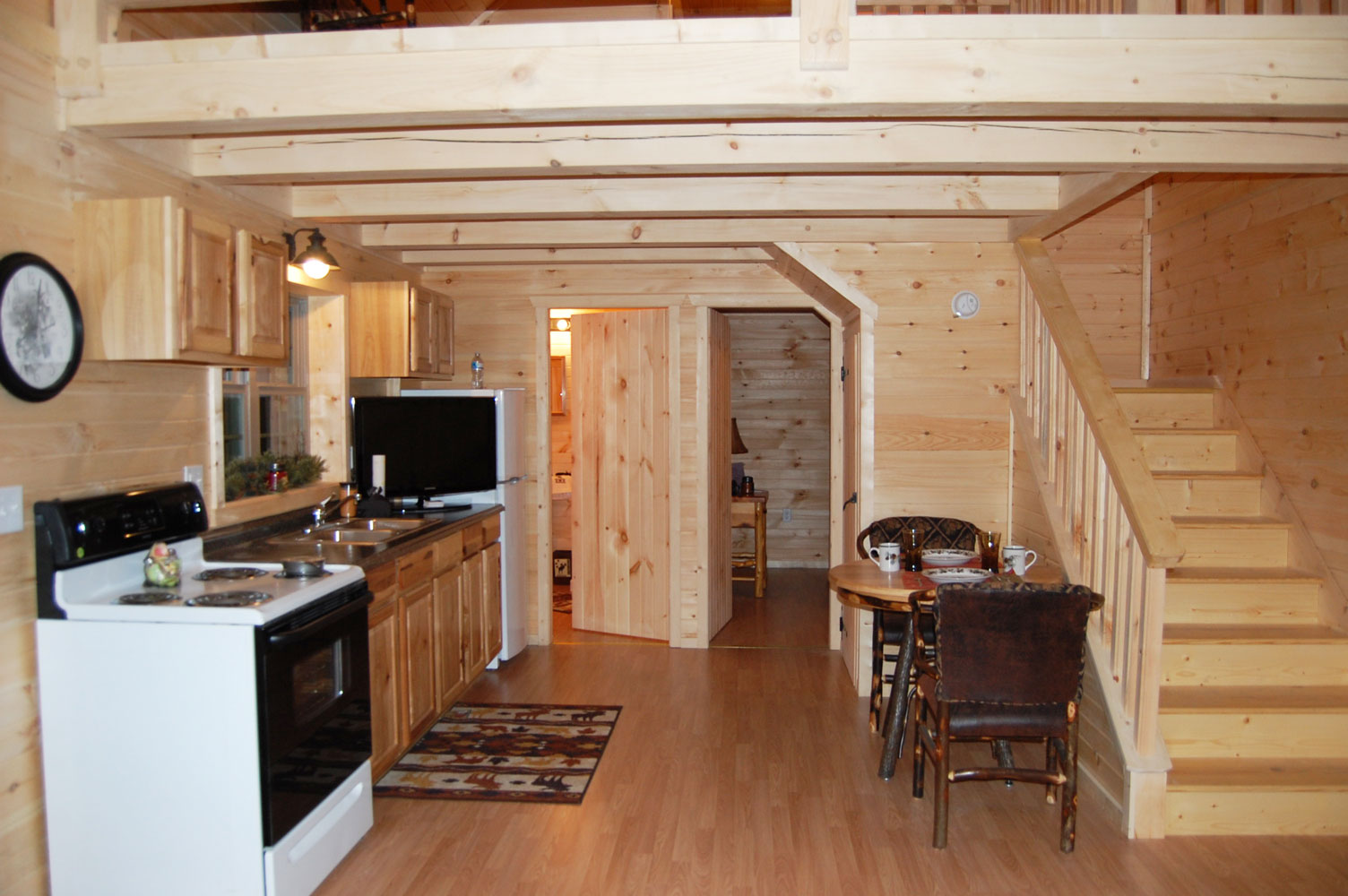 Getaway Cabins on Interior Deluxe Lofted Barn Cabin Floor Plans