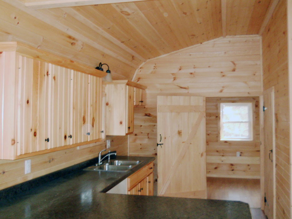 Hickory kitchen cabinets lowes - Getaway Cabins Pine Creek Structures