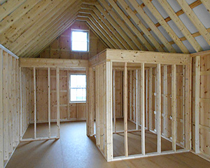 14 x 36 Custom Board 'N' Batten Cabin Interior built by Pine Creek Structures