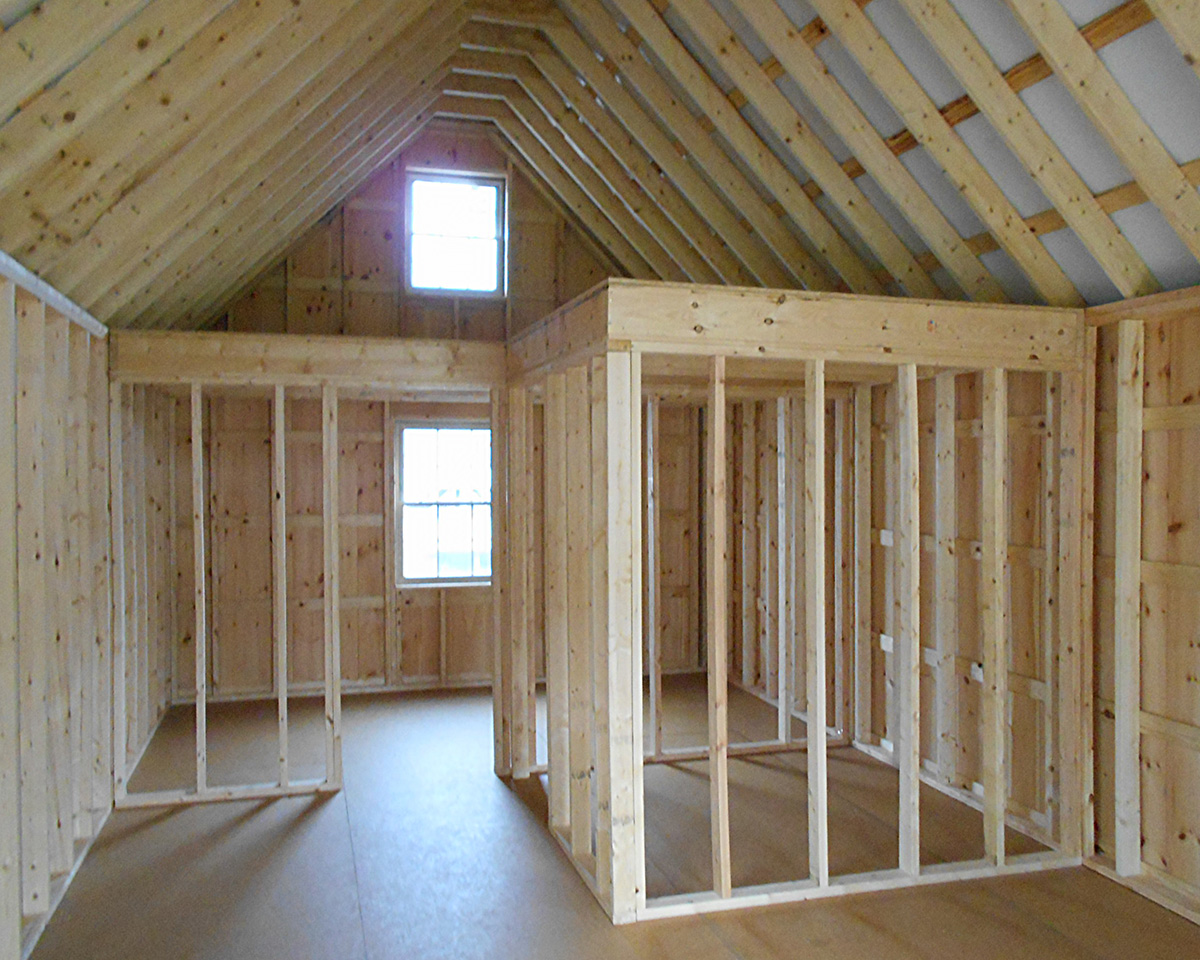 ... 14 x 36 Custom Board 'N' Batten Cabin Interior built by Pine Creek Structures