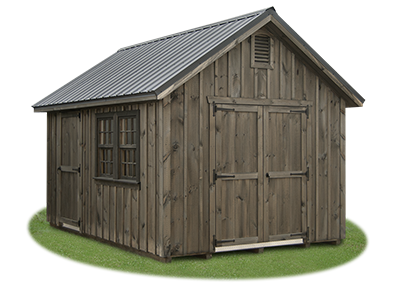10 x 14 Board 'N' Batten Cape Cod Storage Shed from Pine Creek Structures