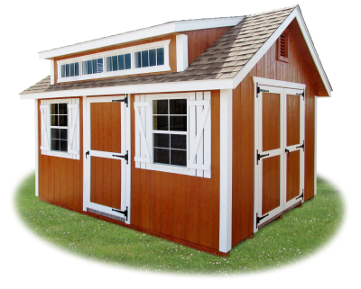 10 x 14 LP Cape Cod Shed with Cape Dormer