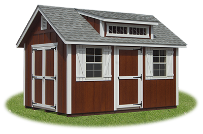 10x14 Cape Cod Storage Shed with LP Board & Batten Smart Side