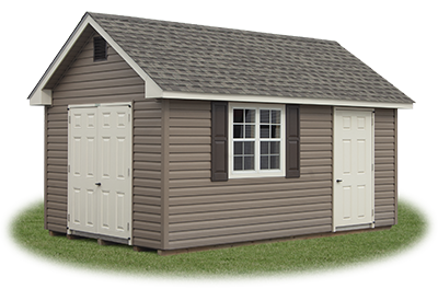 10x16 Vinyl Cape Cod Storage Shed from Pine Creek Structures