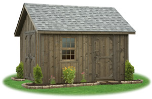 board n batten cape cod storage shed with shingle roof