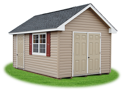 10 x 16 Vinyl Cape Cod Shed