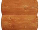 country cedar stain color sample for log siding