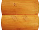 natural cedar stain color sample for log siding