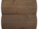 walnut stain color sample for log siding
