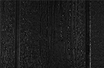 black paint color sample for LP smart panel, duratemp siding, wood trim, wood shutters, wood doors, and wooden flower boxes
