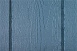 blue paint color sample for LP smart panel, duratemp siding, wood trim, wood shutters, wood doors, and wooden flower boxes