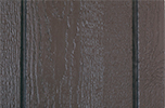 bronze paint color sample for LP smart panel, duratemp siding, wood trim, wood shutters, wood doors, and wooden flower boxes