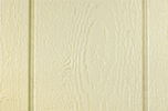 cream paint color sample for LP smart panel, duratemp siding, wood trim, wood shutters, wood doors, and wooden flower boxes