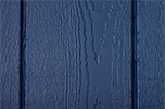 dark blue paint color sample for LP smart panel, duratemp siding, wood trim, wood shutters, wood doors, and wooden flower boxes