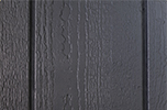 dark gray paint color sample for LP smart panel, duratemp siding, wood trim, wood shutters, wood doors, and wooden flower boxes