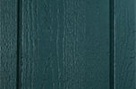 hunter green paint color sample for LP smart panel, duratemp siding, wood trim, wood shutters, wood doors, and wooden flower boxes