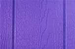 purple paint color sample for LP smart panel, duratemp siding, wood trim, wood shutters, wood doors, and wooden flower boxes