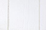 white paint color sample for LP smart panel, duratemp siding, wood trim, wood shutters, wood doors, and wooden flower boxes